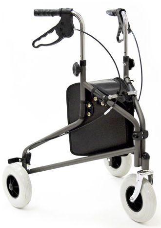3-caster rollator / height-adjustable Sunrise Medical