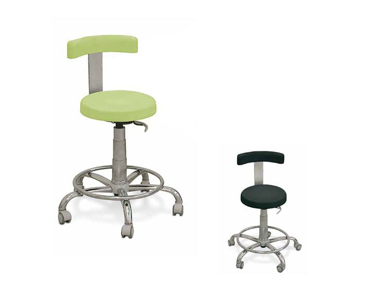 Medical stool / on casters / height-adjustable / with backrest HX TEYCO MED