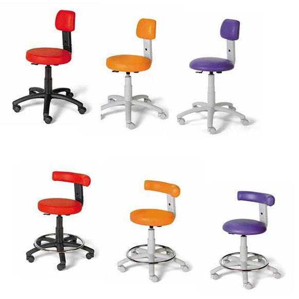 Medical stool / on casters / height-adjustable / with backrest KX, NX TEYCO MED