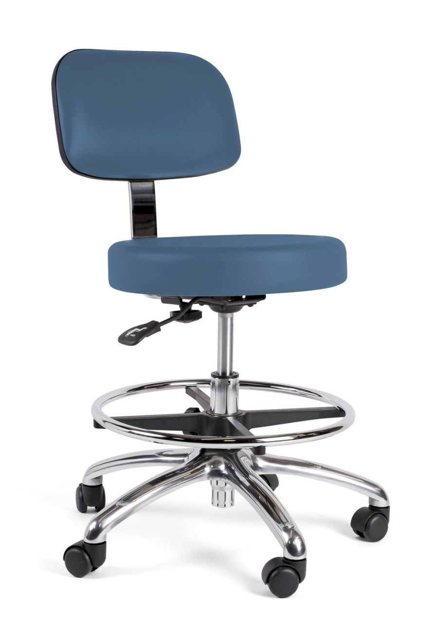 Medical stool / on casters / height-adjustable / with backrest Stance Healthcare