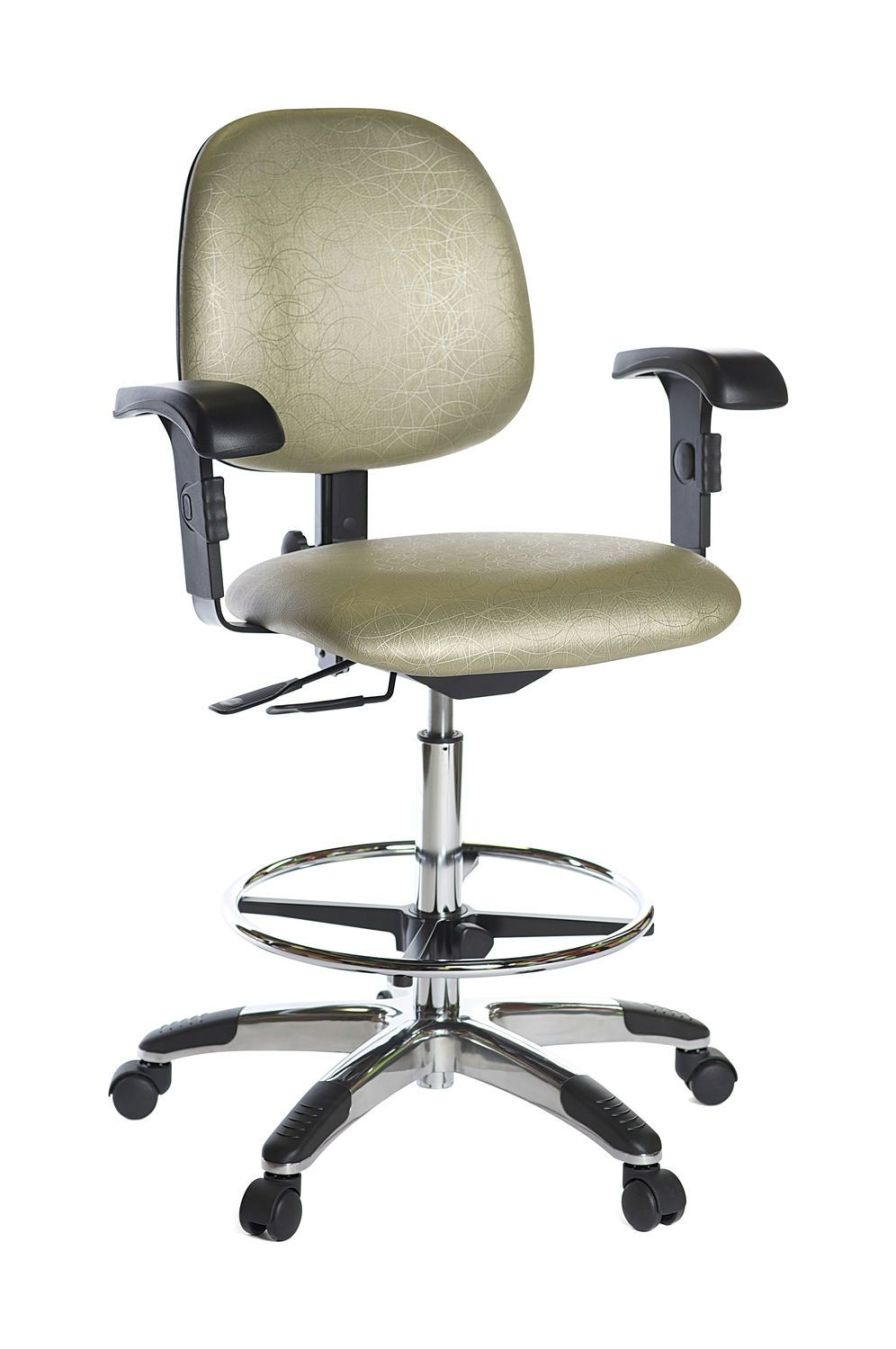 Medical stool / height-adjustable / on casters / with backrest Lab Stance Healthcare