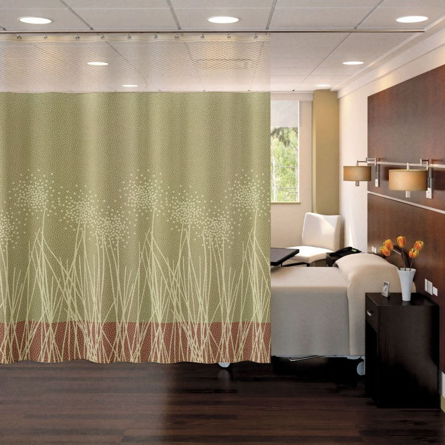 Hospital screen with curtain / telescopic / wall-mounted Privex Stance Healthcare