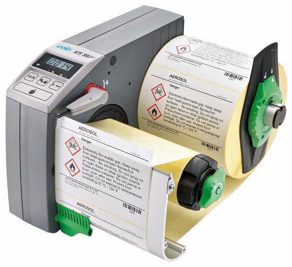 Semi-automatic labeler / adhesive label VS180+ cab Produkttechnik