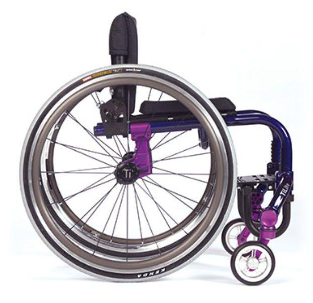 Active wheelchair / height-adjustable / with legrest TWIST TiLite
