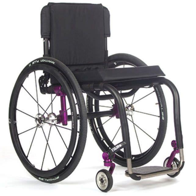 Active wheelchair / height-adjustable / with legrest / pediatric AERO Z TiLite