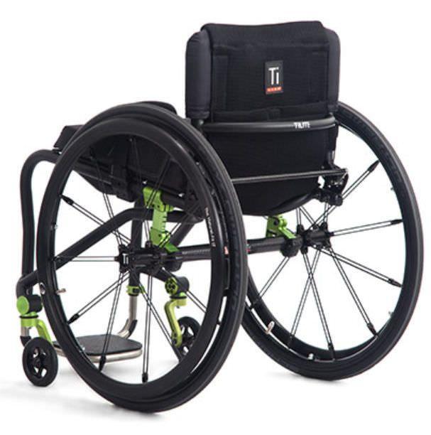 Active wheelchair / height-adjustable / with legrest TRA TiLite