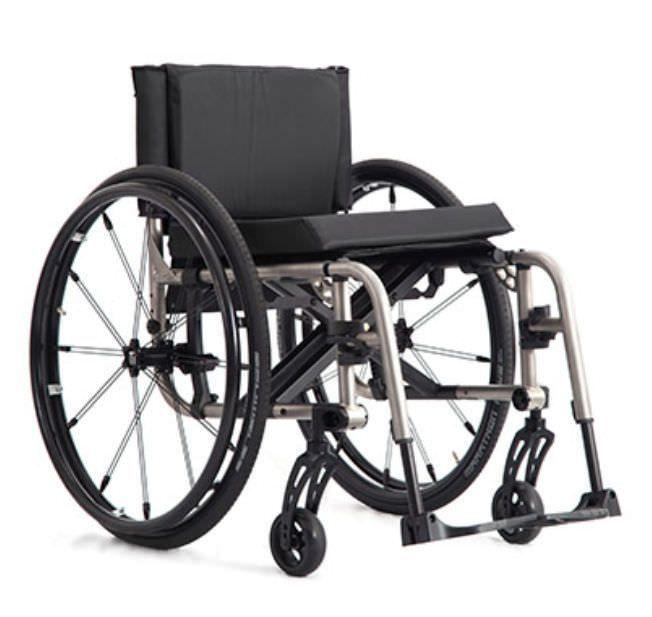 Active wheelchair / folding / height-adjustable / with legrest 2GX TiLite