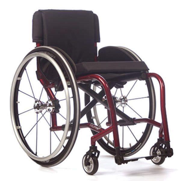 Active wheelchair / height-adjustable / folding / with legrest TX TiLite
