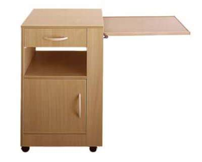 Bedside table / on casters / with over-bed tray PALMA TEKVOR CARE