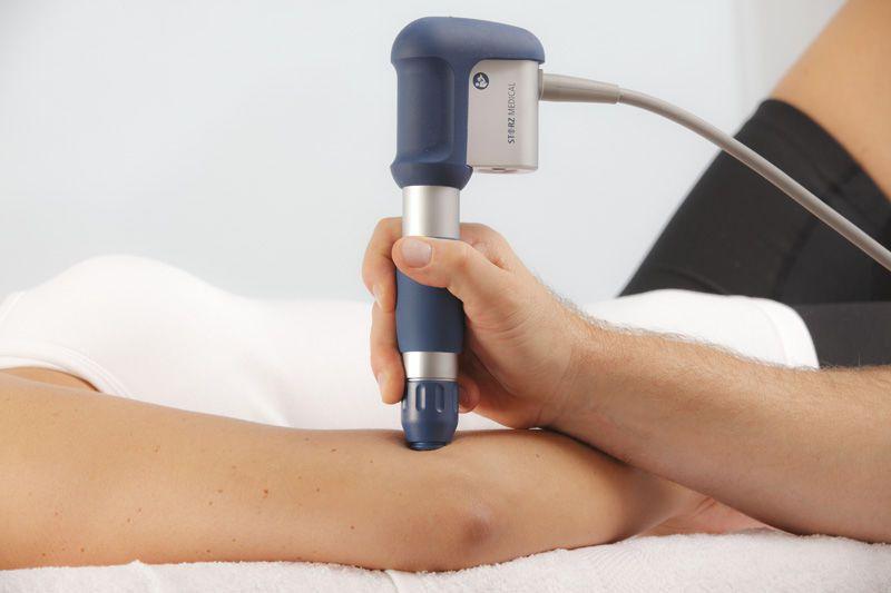Orthopedic treatment extra-corporeal shock wave generator / human / on trolley MASTERPULS® MP100 Storz Medical