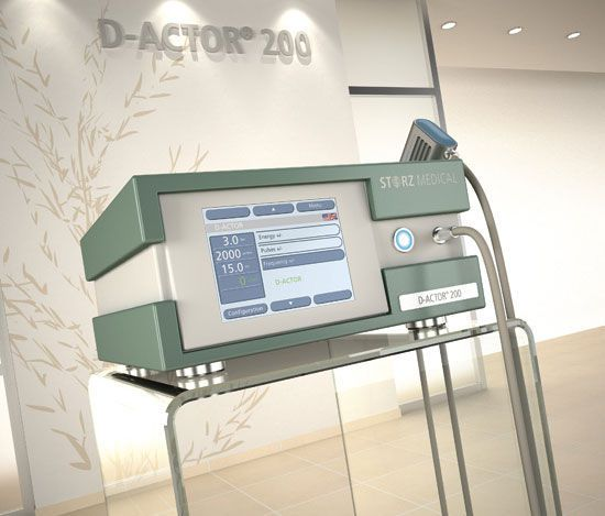 Aesthetic medicine extra-corporeal shock wave generator / human D-ACTOR® 200 Storz Medical