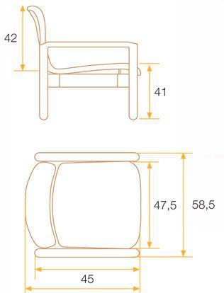 Chair with armrests Tecnimoem