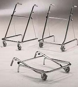 Folding walker / height-adjustable / with 2 casters 681 GIRALDIN G. & C.