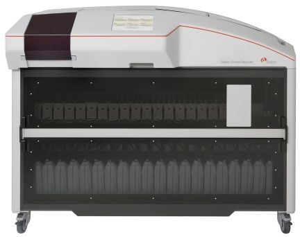 Staining automatic sample preparation system / for histology / slide / with glass coverslipper Dako CoverStainer Dako