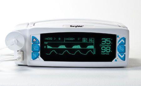 Veterinary carbon dioxide monitor V9004 series Smiths Medical Surgivet