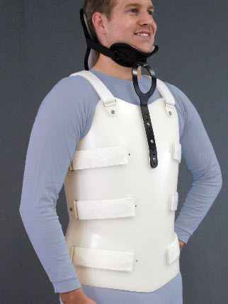 Cervico-thoraco-lumbo-sacral (CTLSO) support corset Bivalve Spinal Technology