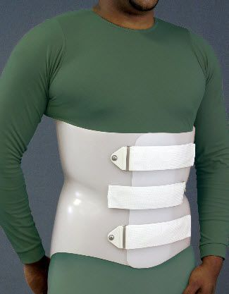 Lumbosacral (LSO) support corset Anterior Overlap Spinal Technology