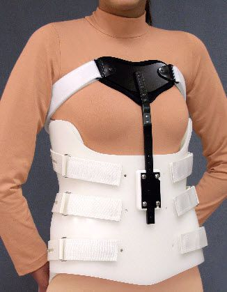 Thoracolumbosacral (TLSO) support corset / with sternal pad Bivalve with Sternal Shield Spinal Technology