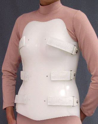 Thoracolumbosacral (TLSO) support corset Bivalve Spinal Technology