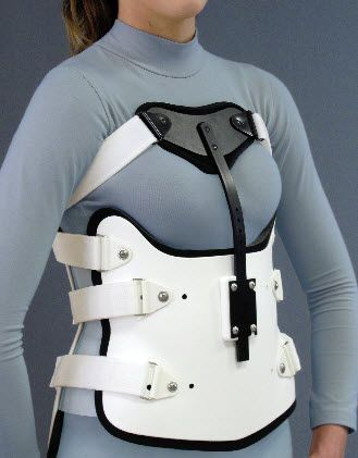 Thoracolumbosacral (TLSO) support corset / with sternal pad S.T.O.P. II I Spinal Technology