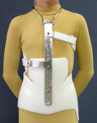 Cervico-thoraco-lumbo-sacral (CTLSO) support corset / scoliosis Milwaukee Spinal Technology