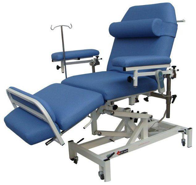 Height-adjustable hemodialysis armchair / electrical Medi-Plinth