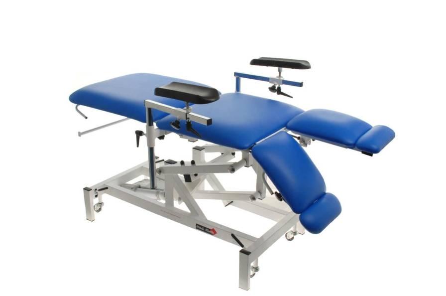Phlebotomy examination chair / hydraulic / 3-section Medi-Plinth