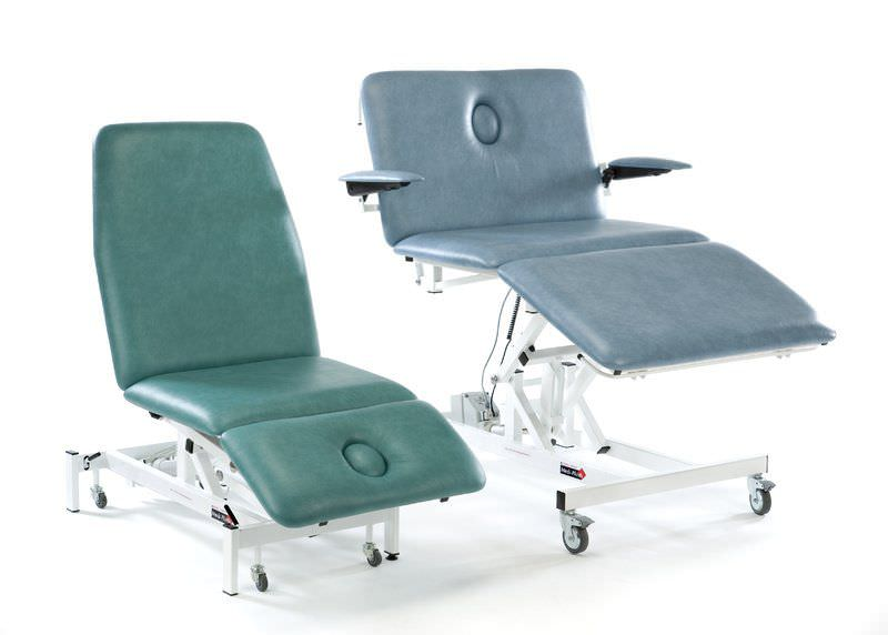 Bariatric examination table / electrical / height-adjustable / on casters Medi-Plinth