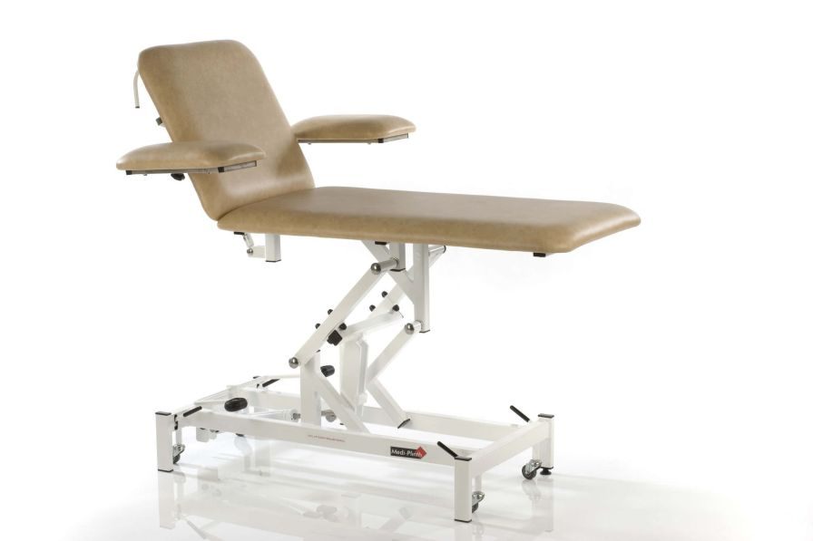 Electrical examination table / on casters / height-adjustable / 2-section Medi-Plinth