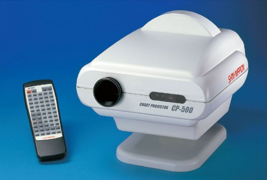 Remote-controlled ophthalmic chart projector CP-500 Shin-Nippon