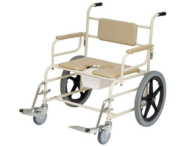 Shower chair / with bucket / on casters / bariatric Bari Sizewise