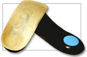 3-4 length orthopedic insole with heel pad HEEL SPUR ORTHOTIC Solo Laboratories