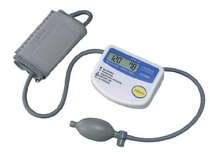 Semi-automatic blood pressure monitor / electronic / arm 0 - 280 mmHg   CH-308B Citizen Systems Japan