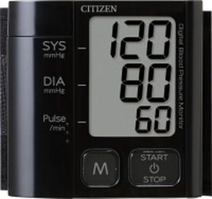 Automatic blood pressure monitor / electronic / wrist 0 - 280 mmHg   CH-657 ?BLACK) Citizen Systems Japan