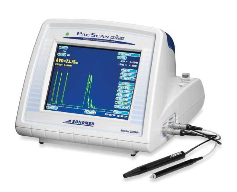 Tonometer (ophthalmic examination) / ophthalmic biometer / pachymeter / applanation tonometry 300AP+ PacScan Plus Sonomed Escalon
