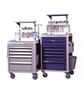 Anesthesia trolley / with shelf unit / with side bin Cart-Pro, Cart-Standard S&S Technology
