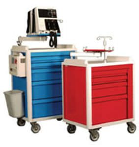 Emergency trolley / with CPR board / with oxygen cylinder holder / with IV pole Crash Cart-30 S&S Technology