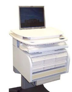 """Computer cart with drawer / medical 17"""" 