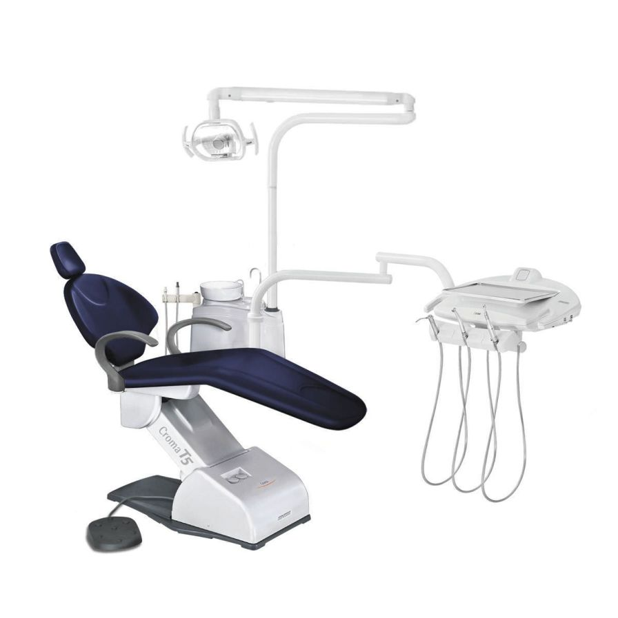 Dental treatment unit with lamp / with delivery system CROMA T5 PLUS DABI ATLANTE