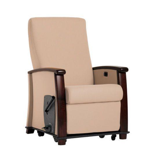 Reclining medical sleeper chair / on casters / with legrest / manual versant Orthopedic/Sleep WIELAND