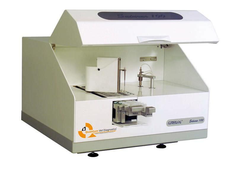 Automatic biochemistry analyzer / veterinary / random access Quantum Saturno 100 VET Woodley Equipment