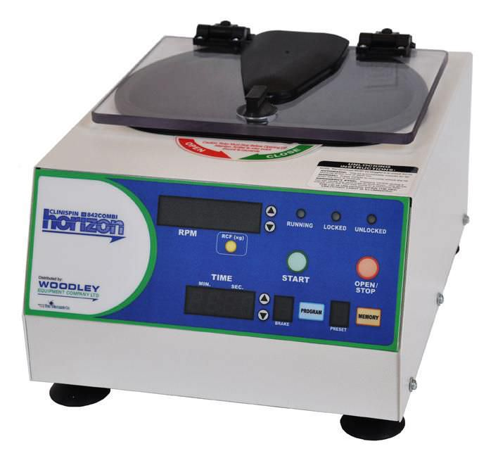 Laboratory centrifuge / microhematocrit / high-speed / compact 12 000 rpm | Clinispin horizon 842COMBI Woodley Equipment