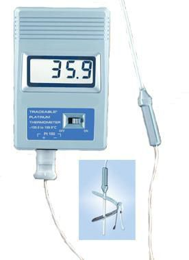 Laboratory thermometer / electronic / probe -99.9 °C ... +199.9 °C Woodley Equipment