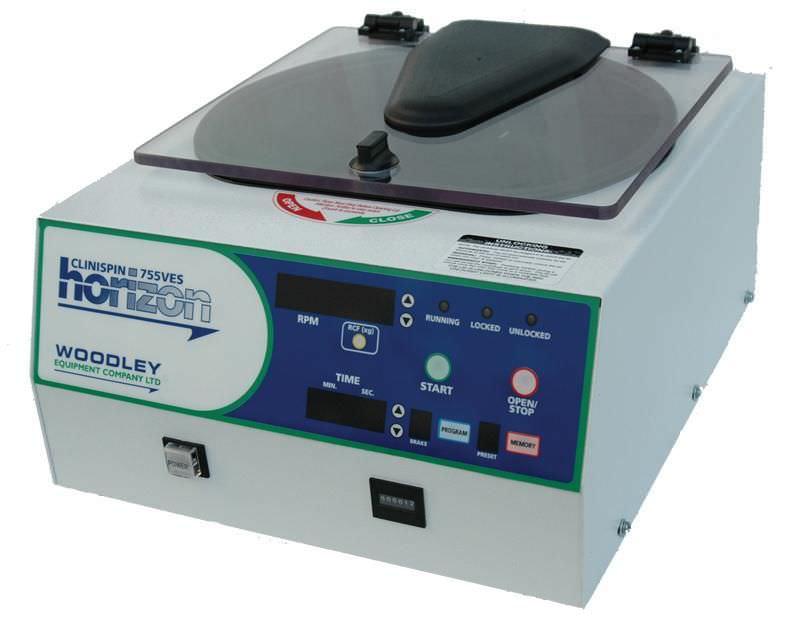 Laboratory centrifuge / bench-top / horizontal 3 500 rpm | Clinispin horizon 755VES Woodley Equipment