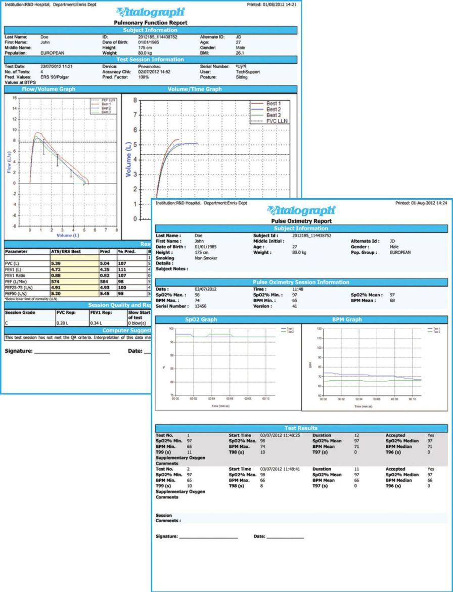 Tabletop spirometer / USB COMPACT Expert Vitalograph