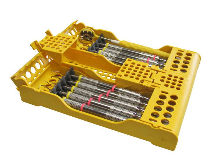 Dental instrument sterilization cassette / perforated E-Z Jett® 50Z930 ZIRC