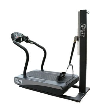 Treadmill with harness systems Force Woodway