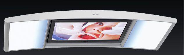 Ceiling-mounted lighting / dentist office / with multimedia terminal AVISIO zenium