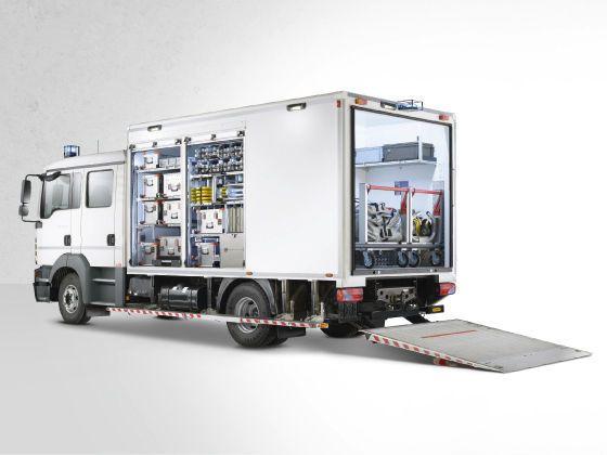 Civil protection ambulance / transport / box body 10 T Wietmarscher Ambulanz- und Sonderfahrzeug GmbH