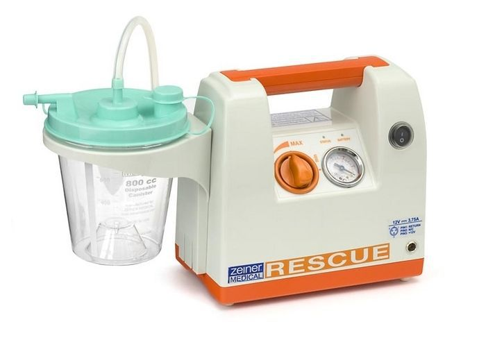 Electric mucus suction pump / handheld / battery-powered 25 L/mn - RESCUE Zeiner Medical